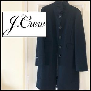 J.Crew Black Wool Classic Coat. Quality & Details.